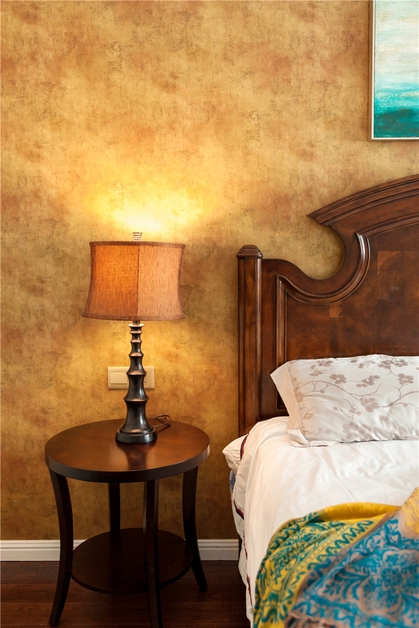 360平美式风格别墅装修床头灯设计