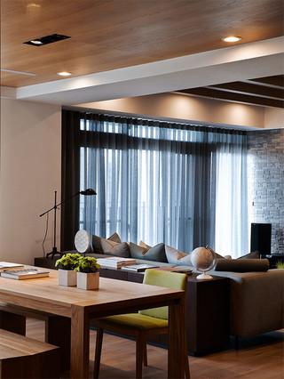 90㎡现代北欧三居装修窗帘设计图