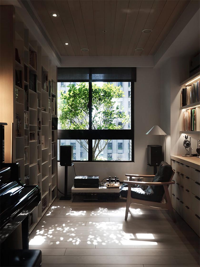 时尚混搭风格二居书房吊顶装修效果图