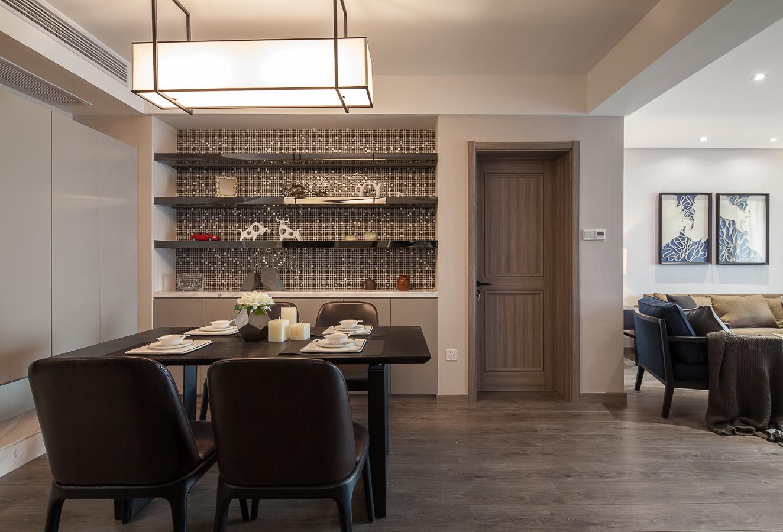 120平现代简约二居餐厅装修效果图