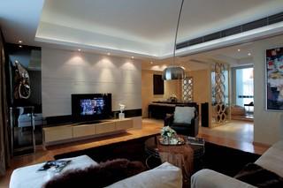 后现代风格四居室客厅装修效果图