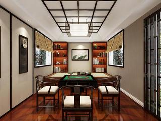 新中式棋牌室装修效果图