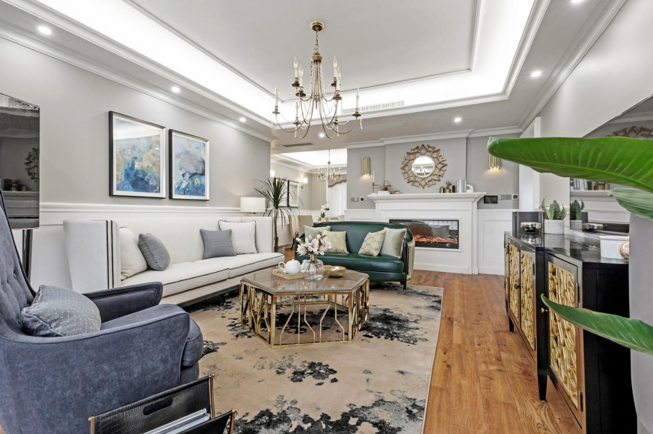180㎡美式风格客厅装修效果图