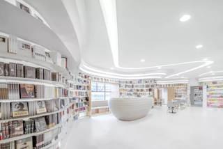 书店装修效果图 流畅纯洁