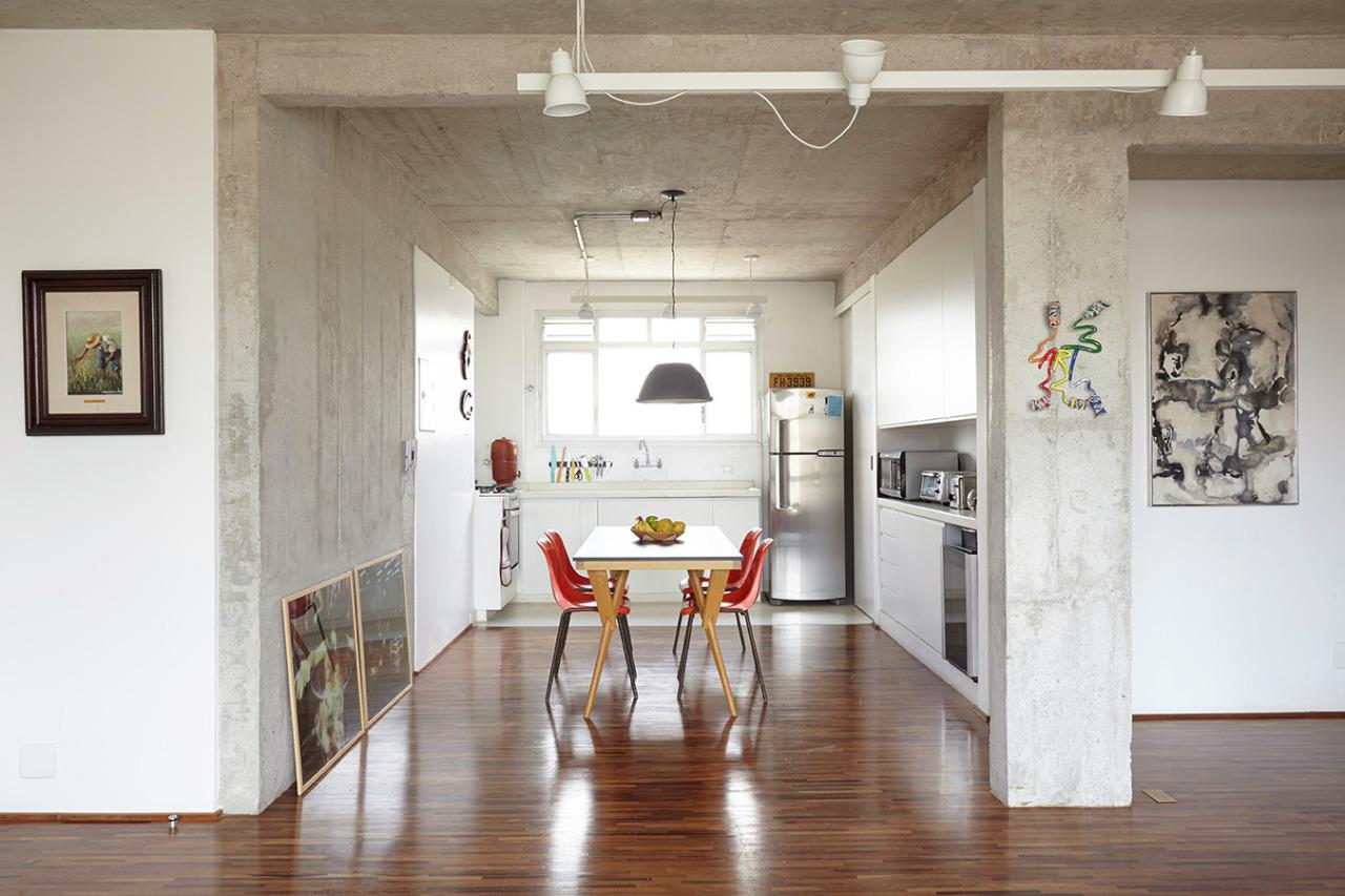 工业风格一居室厨餐厅装修效果图
