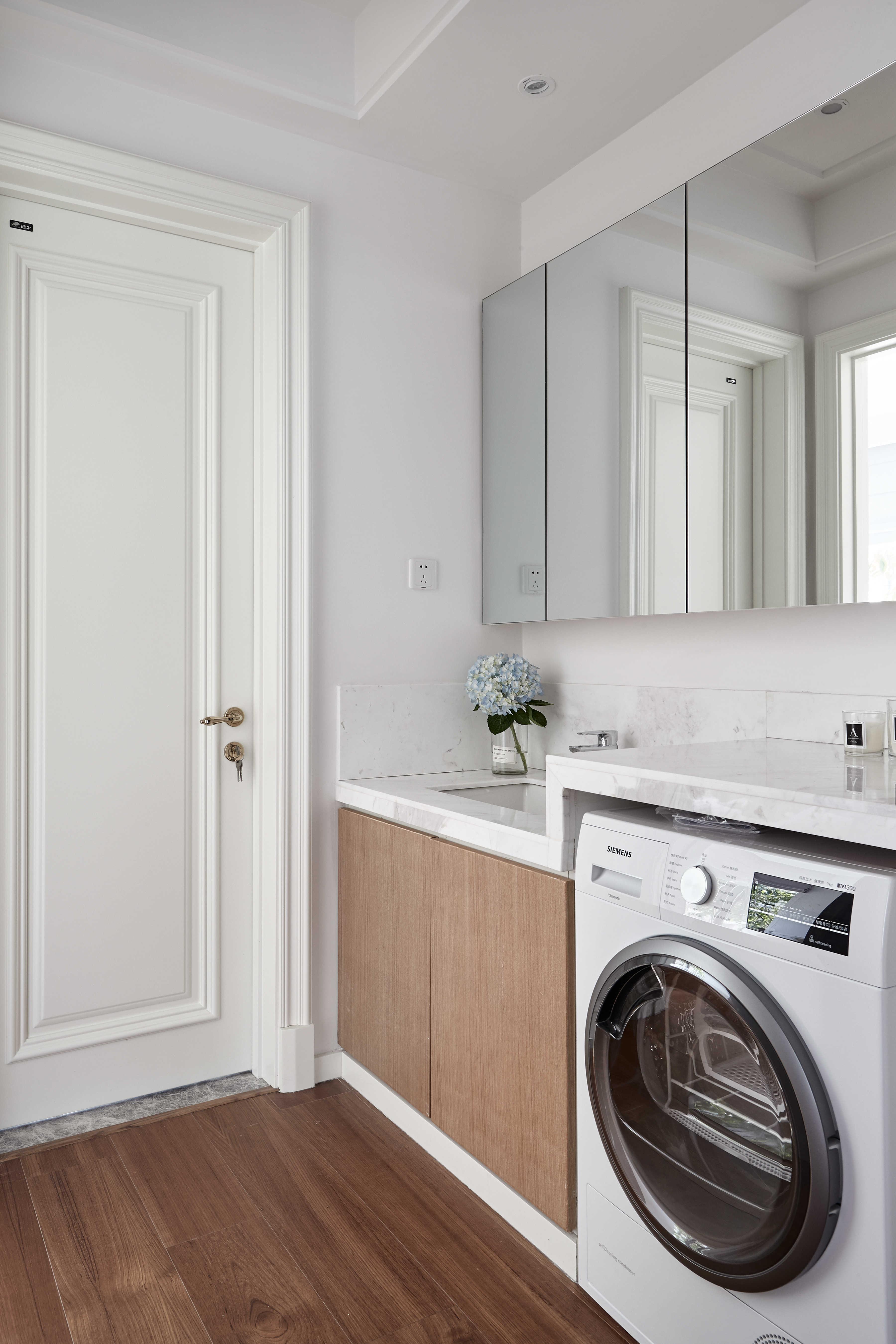 136平自然简约风装修洗手台设计图