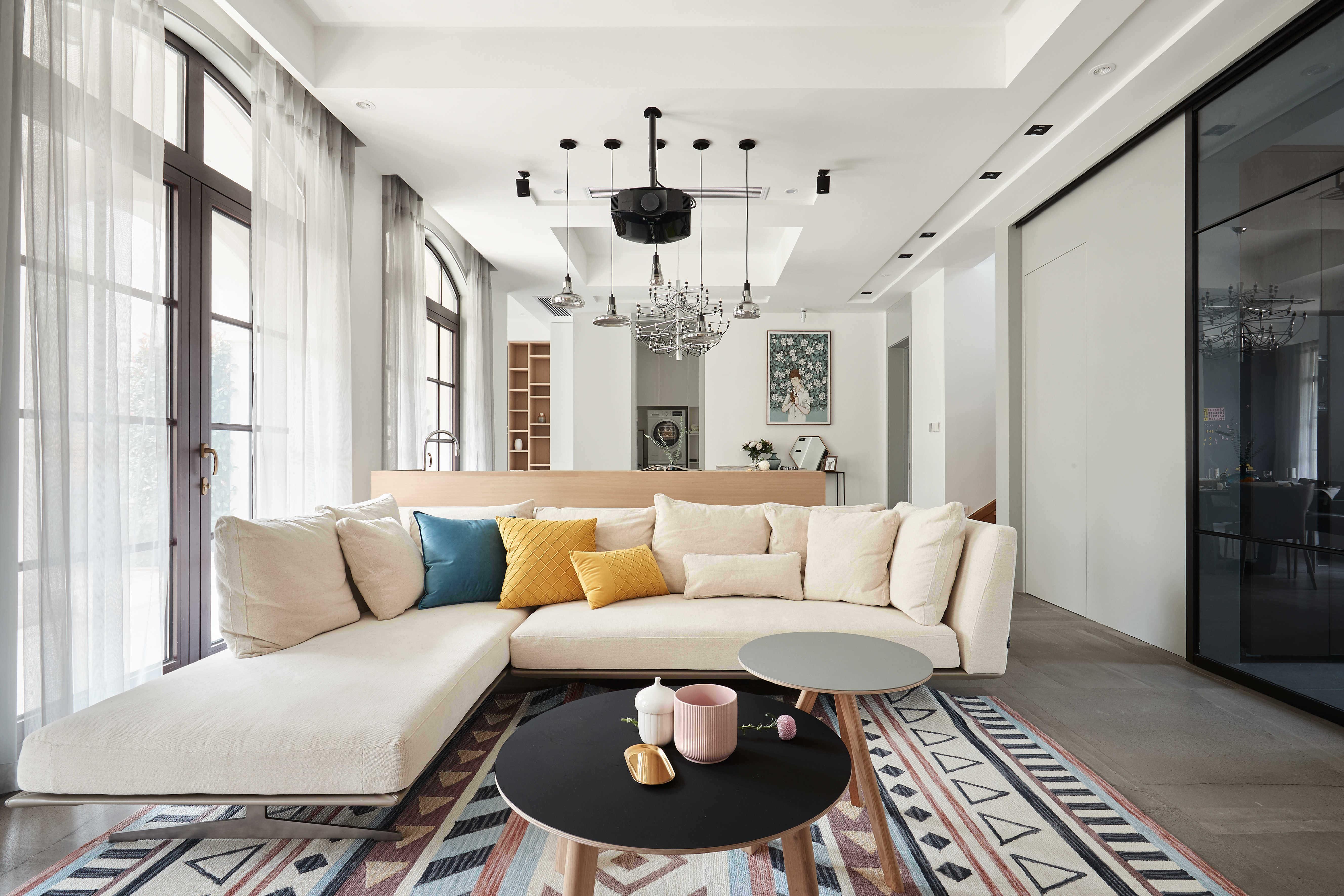 大户型休闲四居室客厅装修效果图