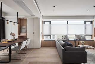 台式简约风二居客厅吊顶装修效果图