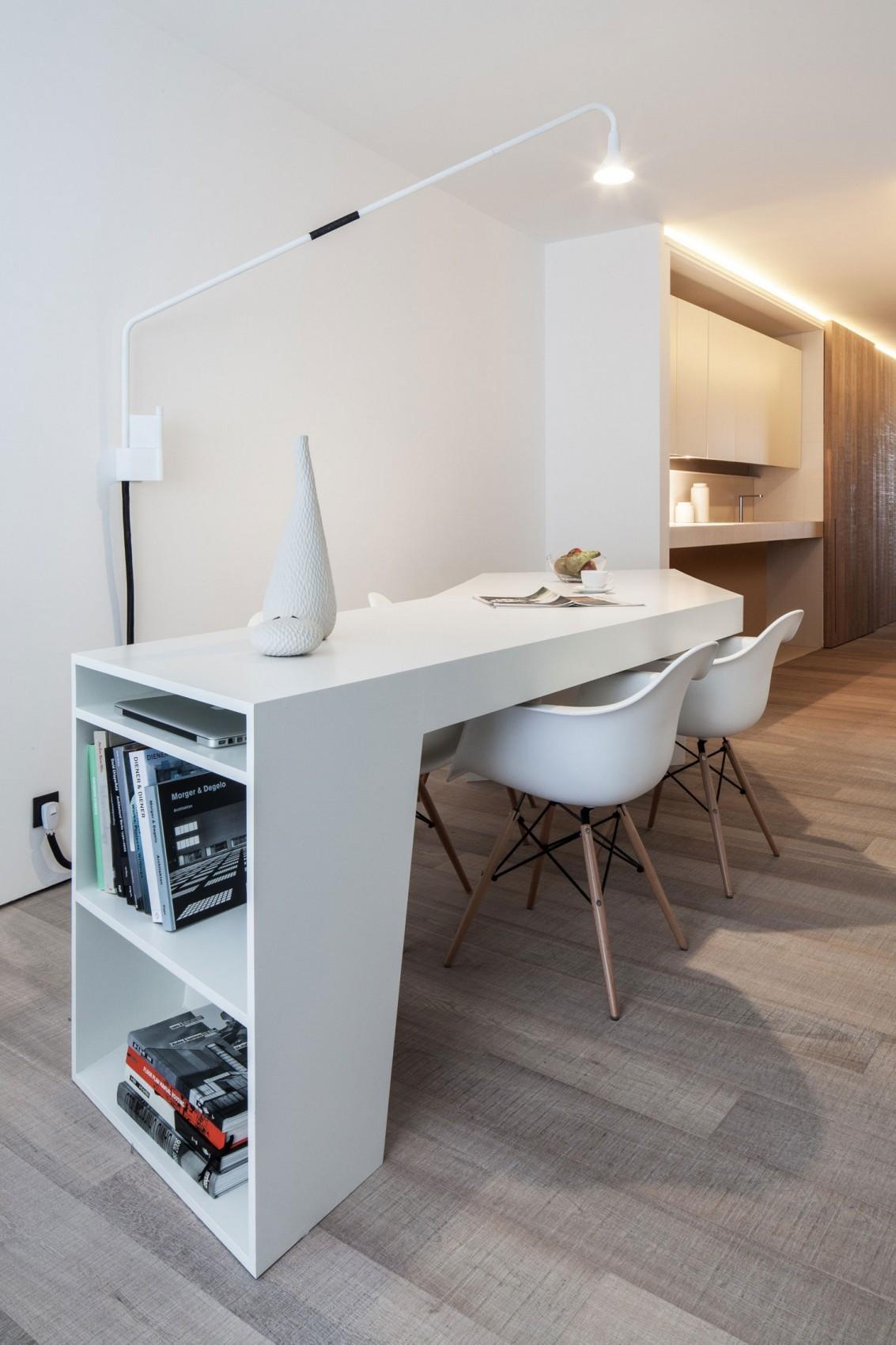 简约北欧风公寓装修餐桌效果图