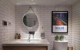 75平北欧风两居装修洗手台设计图