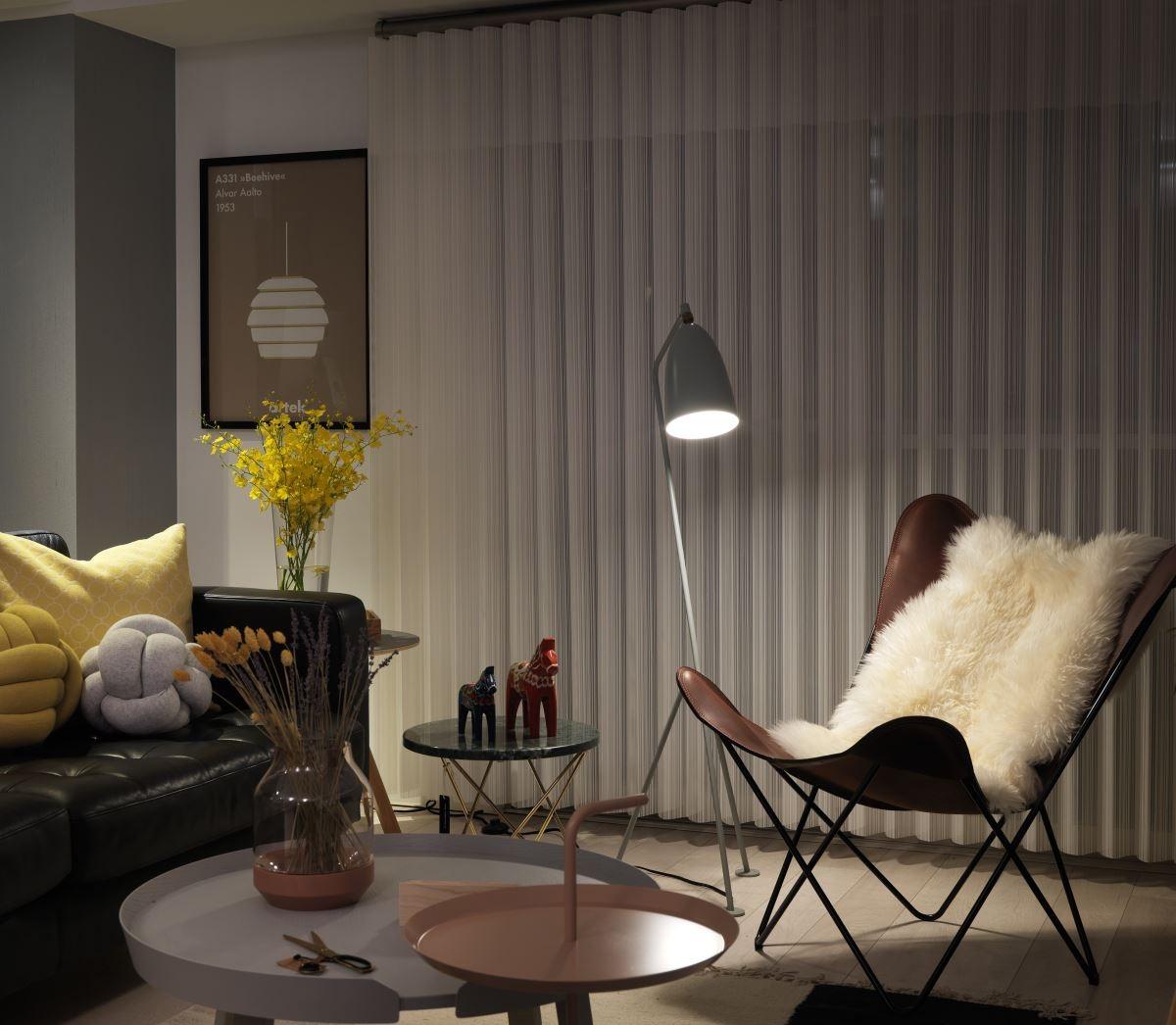 75平北欧风两居装修客厅一角