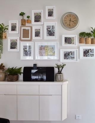 78平北欧二居装修照片墙布置图