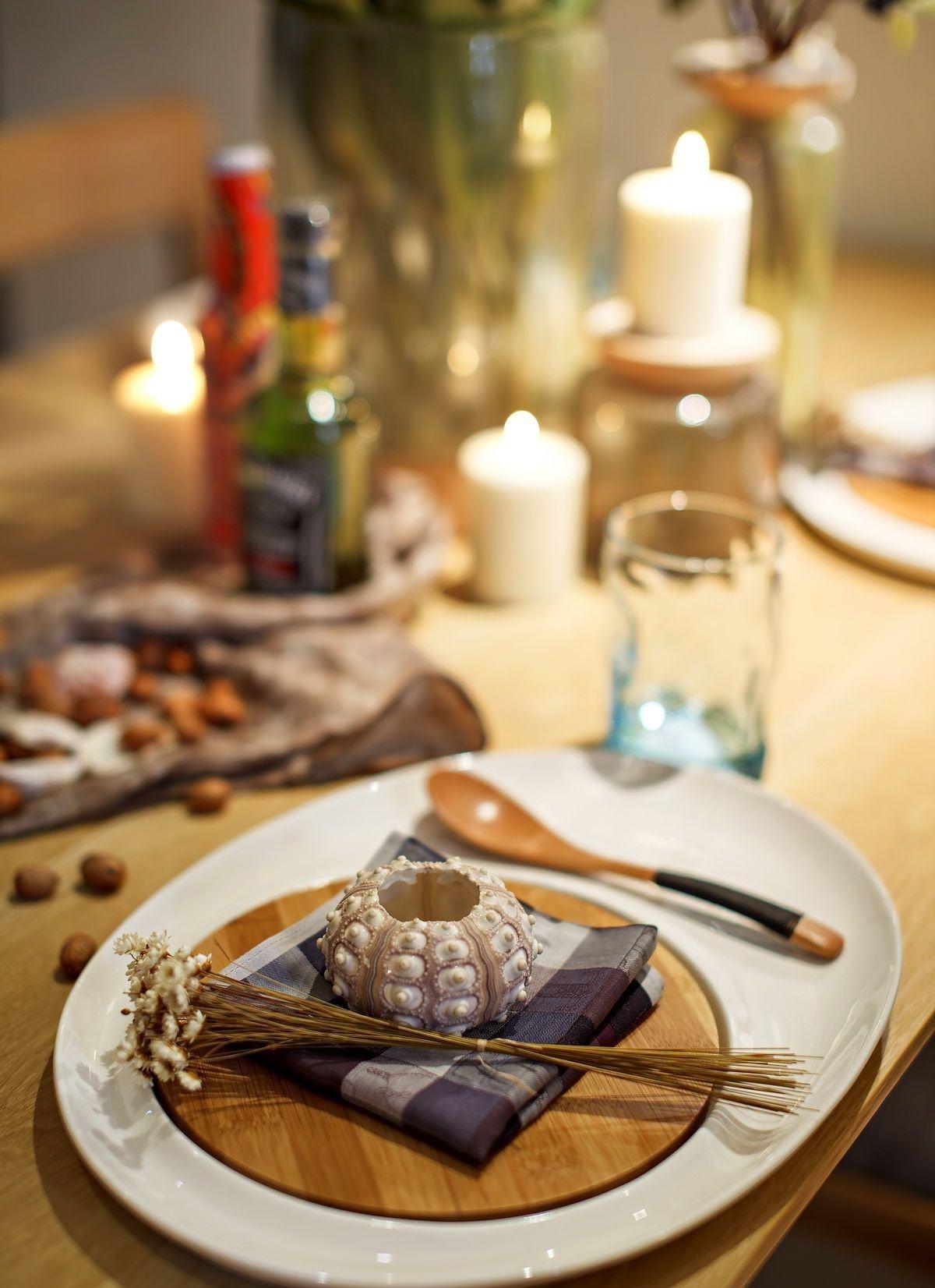小户型北欧风两居室装修餐具特写