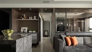 后现代风格三居室装修客餐厅过道