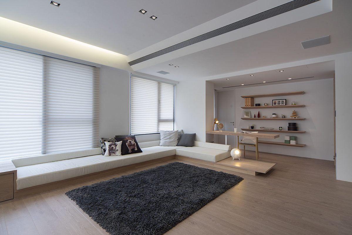 简约原木风两居室客厅装修效果图