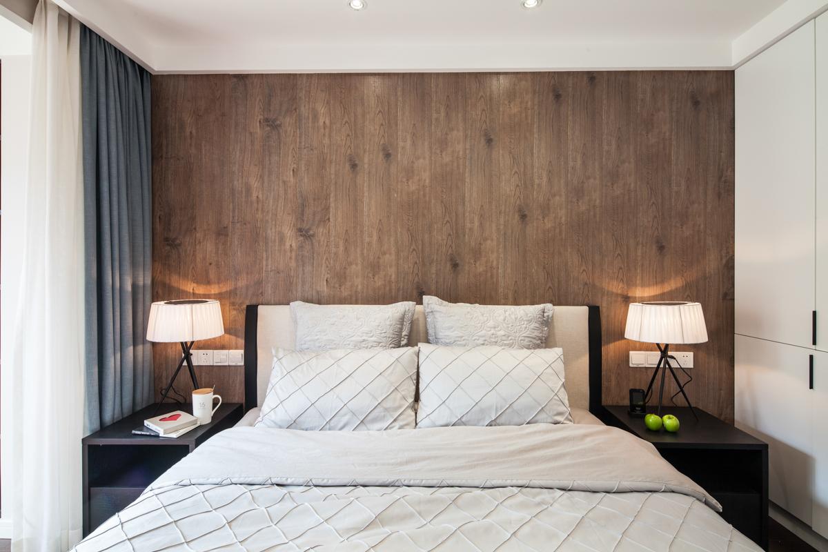90平现代简约风格床头背景墙装修效果图