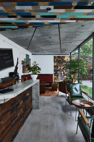 大户型复古风公寓客厅装修效果图