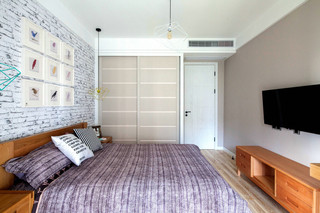 75平北欧风一居卧室装修搭配图