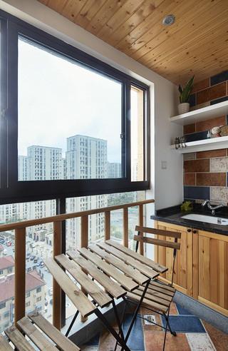 125㎡北欧风格三居阳台装修设计图
