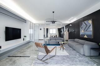 現代簡約大戶型客廳裝修效果圖