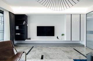 现代简约大户型电视背景墙装修效果图