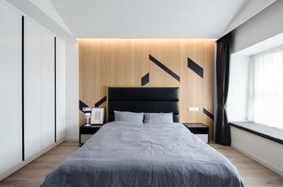 现代简约大户型床头背景墙装修设计图