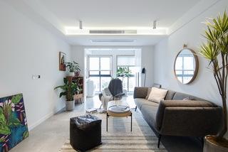 65㎡北欧风一居室装修客厅搭配图