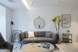65㎡北欧风一居室装修灰色沙发设计