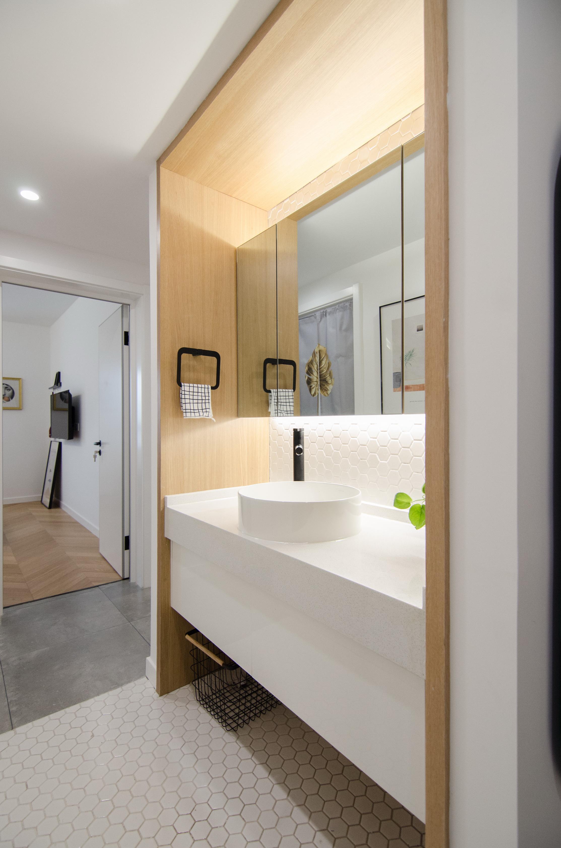 65㎡北欧风一居室洗手台装修效果图