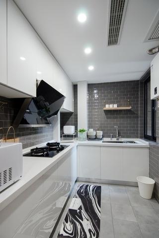 65㎡北欧风一居室厨房装修布局图