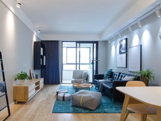 现代北欧风三居室装修设计图