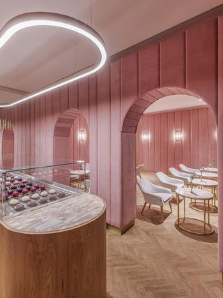 粉色法式蛋糕店装修效果图