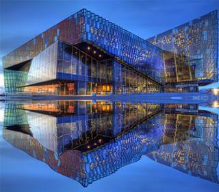 冰岛哈帕音乐厅设计 梦幻玻璃