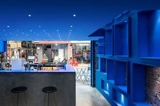 蓝色调创意饮品店装修效果图