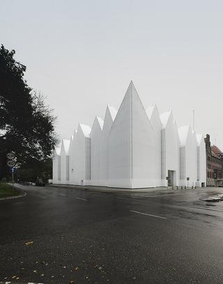 音乐厅设计效果图 白色群峰