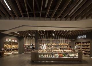 超市面包区装修效果图