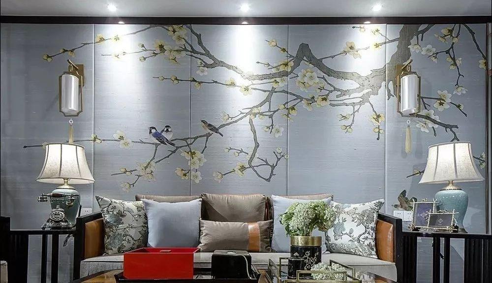 新中式沙發背景墻 美到窒息!