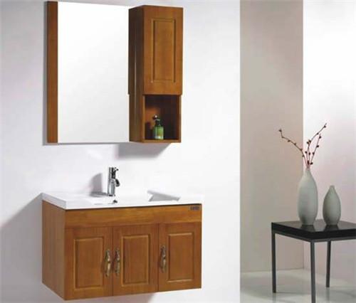 橡木洗脸盆柜报价 浴室柜买成品好还是定制好