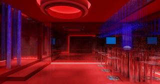 红色现代娱乐会所装修效果图