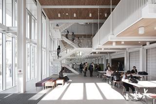 大学教学楼中庭空间设计效果图
