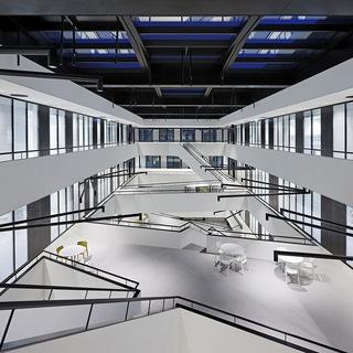 大学科研楼廊道空间设计效果图