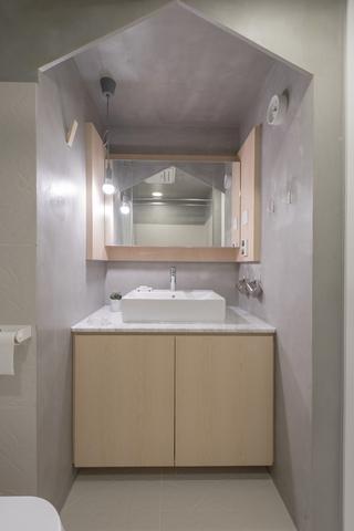 自然简约风卫生间洗手台装修效果图