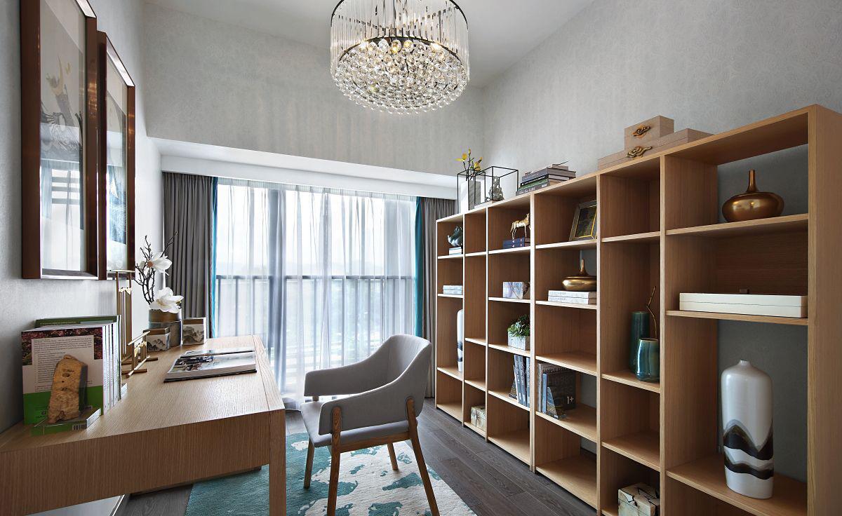 新中式风格书房装修效果图