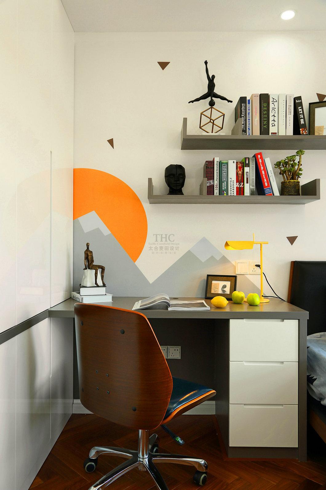 现代简约风格书桌设计效果图