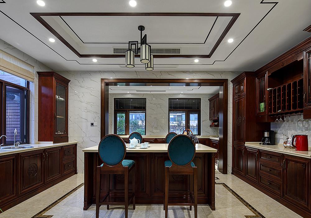 中式风格别墅厨房装修设计图