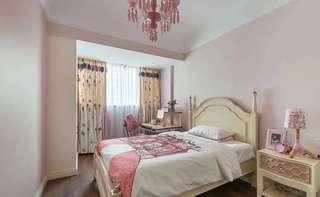 美式风格粉色女孩房装修效果图