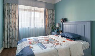 美式风格蓝色男孩房装修效果图