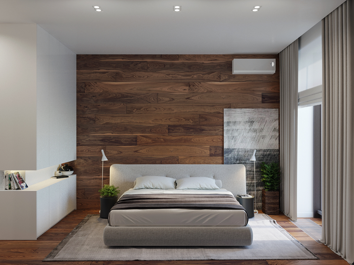 时尚简约公寓卧室装修效果图