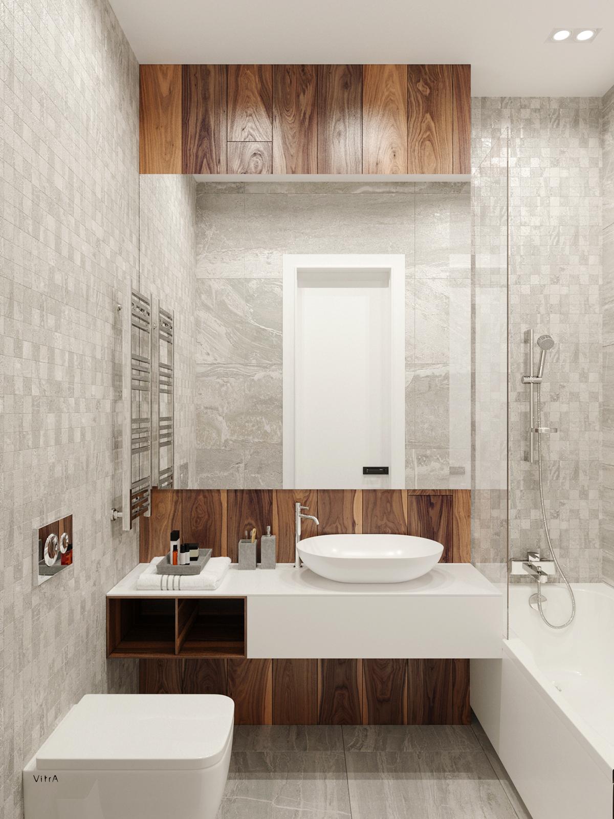时尚简约公寓卫生间装修效果图