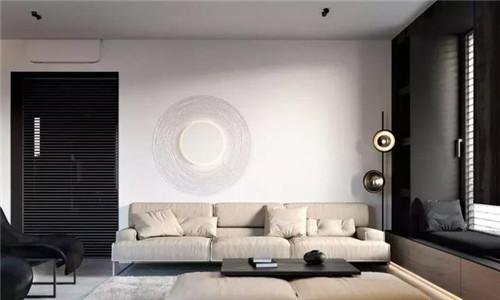 装修效果图客厅案例欣赏 140平现代简约三居室